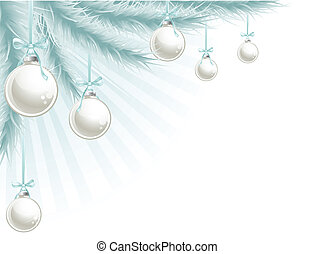 weihnachtsbaum, ecke, element