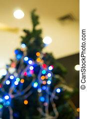 weihnachtsbaum, fokus