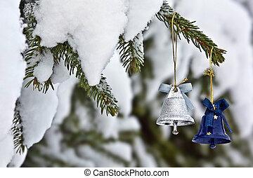 weihnachtsbaum, glocken
