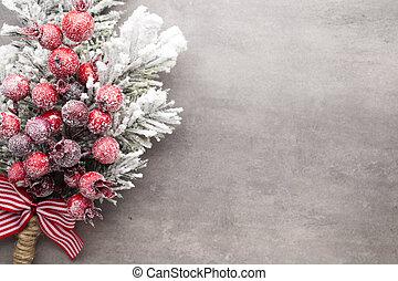 weihnachtsbaum, gruß, card., decoration.