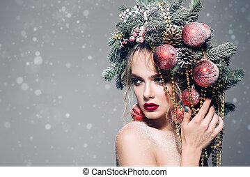Frisur Baum Weihnachten Schone Frisur Frau Fashion
