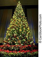 weihnachtsbaum, mit, dekoration