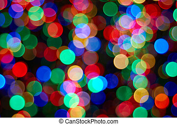 weihnachtsbaum, mit, fokus, lichter, closeup