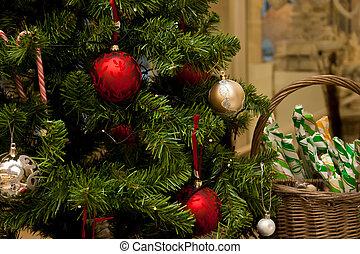 weihnachtsbaum, mit, kakau