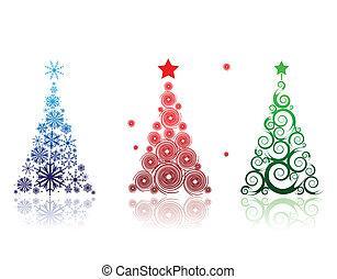 weihnachtsbaum, schöne , für, dein, design