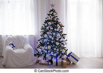 Weihnachtsdeko Geschenke.Dekoration Weißes Baum Zimmer Weihnachten