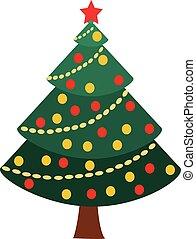 weihnachtsbaum, vektor, abbildung