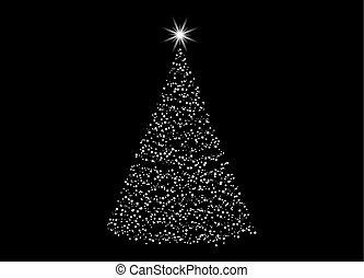 Baum freigestellt lichter design hintergrund schwarz weihnachten - Schwarzer weihnachtsbaum ...