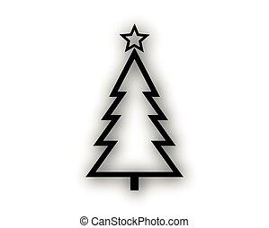 Clipart Tannenbaum Schwarz Weiß.Schwarz Skizze Baum Weißes Weihnachten Skizze Illustration
