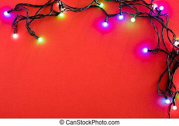 Blaue Weihnachtsbeleuchtung.Blaue Lichter Weihnachten Hintergrund Blaues Raum Lichter