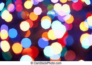 weihnachtsbeleuchtung, fokus