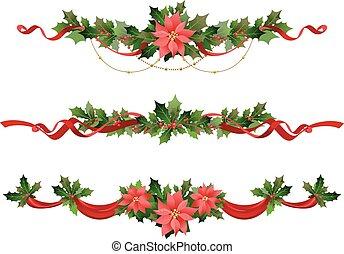Dekoration Weihnachten Schleife Dekoration Vektor