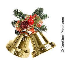 weihnachtsdeko, mit, glocken