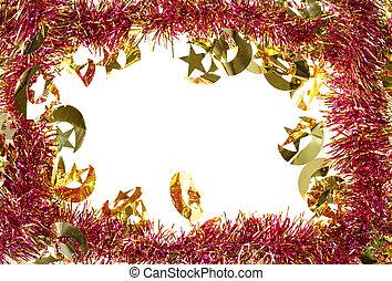 Weihnachtsdeko Lametta.Dekoration Rahmen Lametta Künstlich Weihnachten