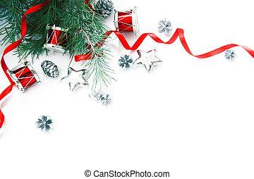 weihnachtsdekorationen, umrandungen