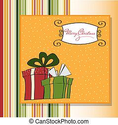 weihnachtsgeschenk, kasten