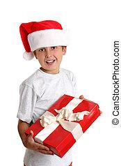 weihnachtsgeschenk, kind