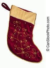 weihnachtsgeschenk, sack, -, freigestellt