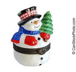 weihnachtsgeschenk, schneemann