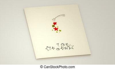 weihnachtskarte, öffnung