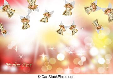 weihnachtskarte, engel