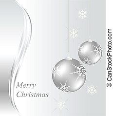 weihnachtskarte, mit, baubles