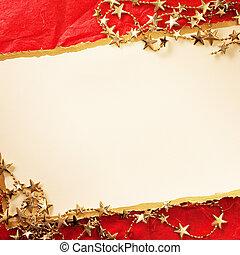 weihnachtskarte, mit, dekoration