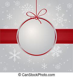 weihnachtskarte, mit, feiertag, elements.