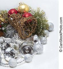 weihnachtskarte, mit, glocken