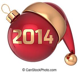weihnachtskugel, 2014, jahreswechsel, flitter