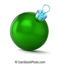 weihnachtskugel, grün, dekor, frohes neues jahr, flitter