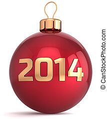 weihnachtskugel, neu , 2014, jahr, flitter