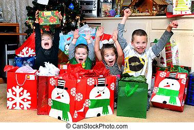 weihnachtsmorgen, aufregung