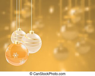 weihnachtsurlaub, hell, hintergrund, mit, kugel