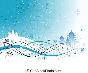 weihnachtsurlaub, hintergrund, vektor, abbildung, für, dein, design