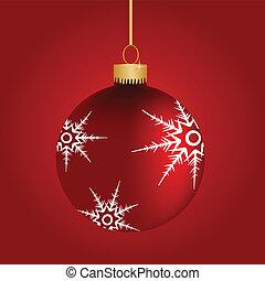 weihnachtszierde, mit, schneeflocken