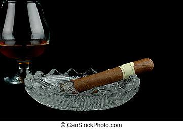 weinbrandt, zigarre
