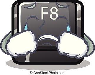 weinen, f8, taste, installed, auf, edv, maskottchen