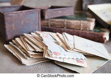 weinig, brieven, ouderwetse