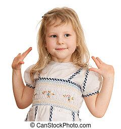 weinig; niet zo(veel), aardig, meisje, dancing