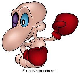 weinig; niet zo(veel), bokser, worm