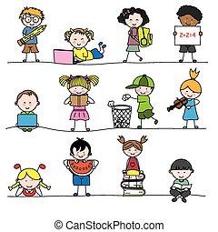 weinig; niet zo(veel), childrens, groep
