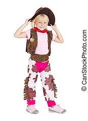 weinig; niet zo(veel), cowgirl