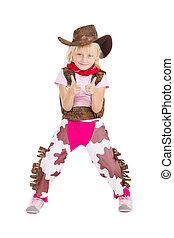 weinig; niet zo(veel), cowgirl, schattig