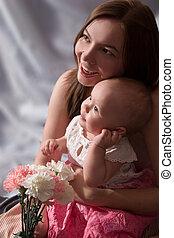 weinig; niet zo(veel), dochter, moeder