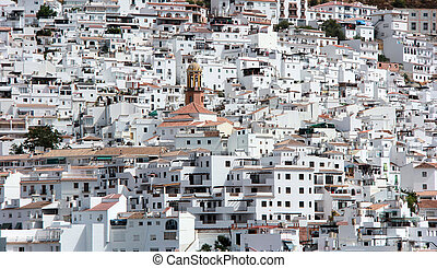 weinig; niet zo(veel), dorp, in, andalusia