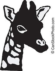 weinig; niet zo(veel), giraffe