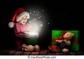 weinig; niet zo(veel), hoedje, meisje, santa