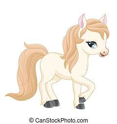 weinig; niet zo(veel), pony, illustration.