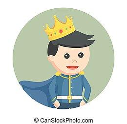 weinig; niet zo(veel), prins, in, cirkel, achtergrond